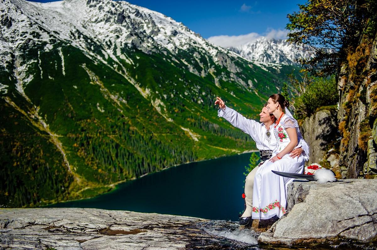 Tatrzański plener ślubny Morskie Oko