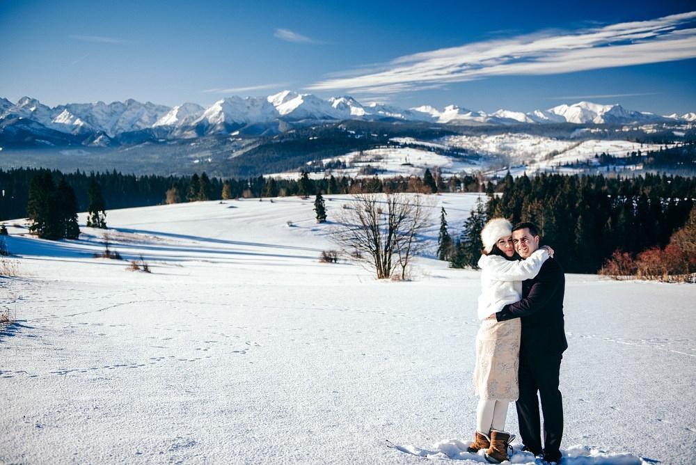 Ślub i plener w górach