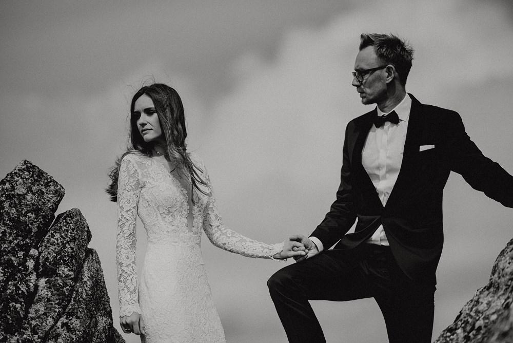 Sesja ślubna w tatrach b&w