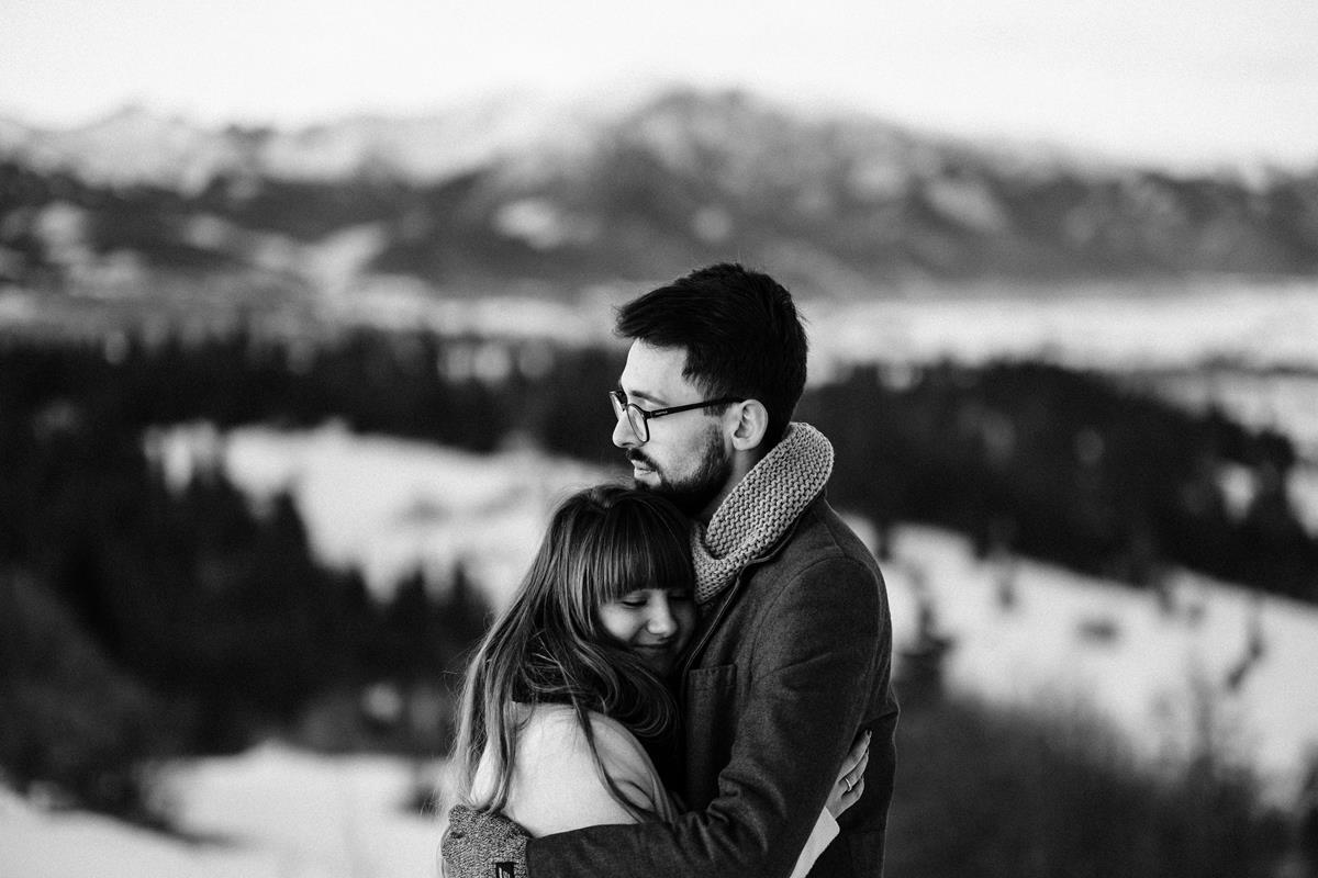 Sesja zaręczynowa w górach zimą16