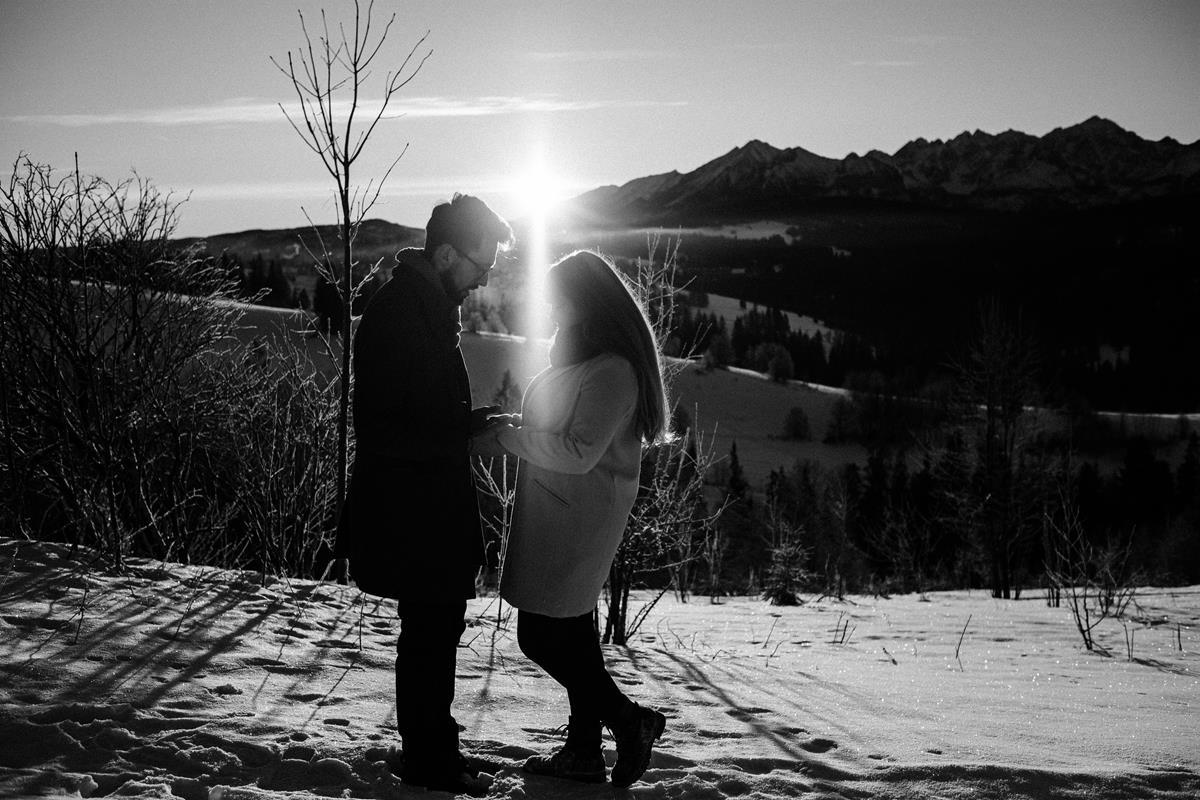Sesja zaręczynowa w górach zimą28