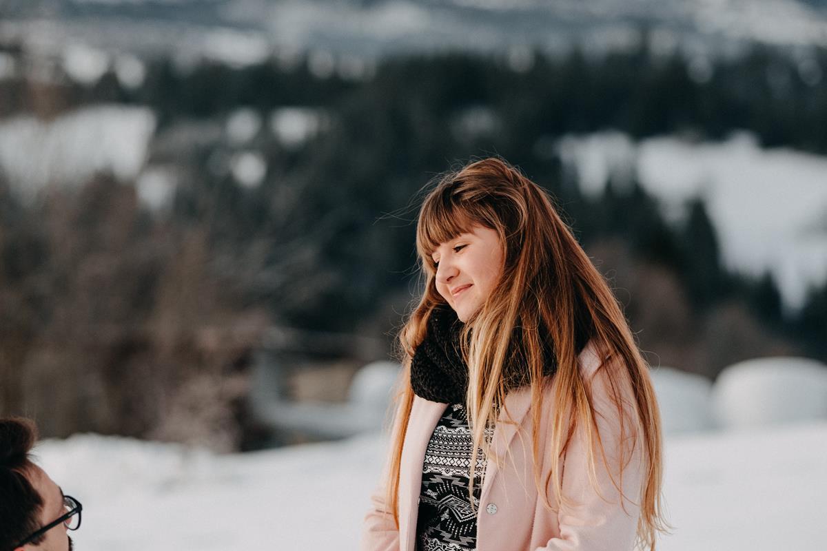 Sesja zaręczynowa w górach zimą3