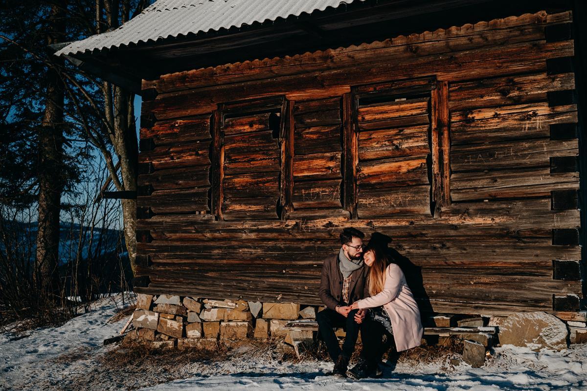 Sesja zaręczynowa w górach zimą33