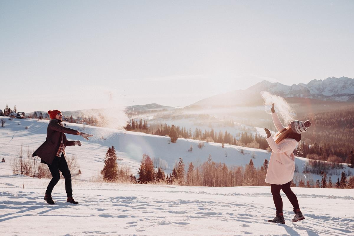 Sesja zaręczynowa w górach zimą44