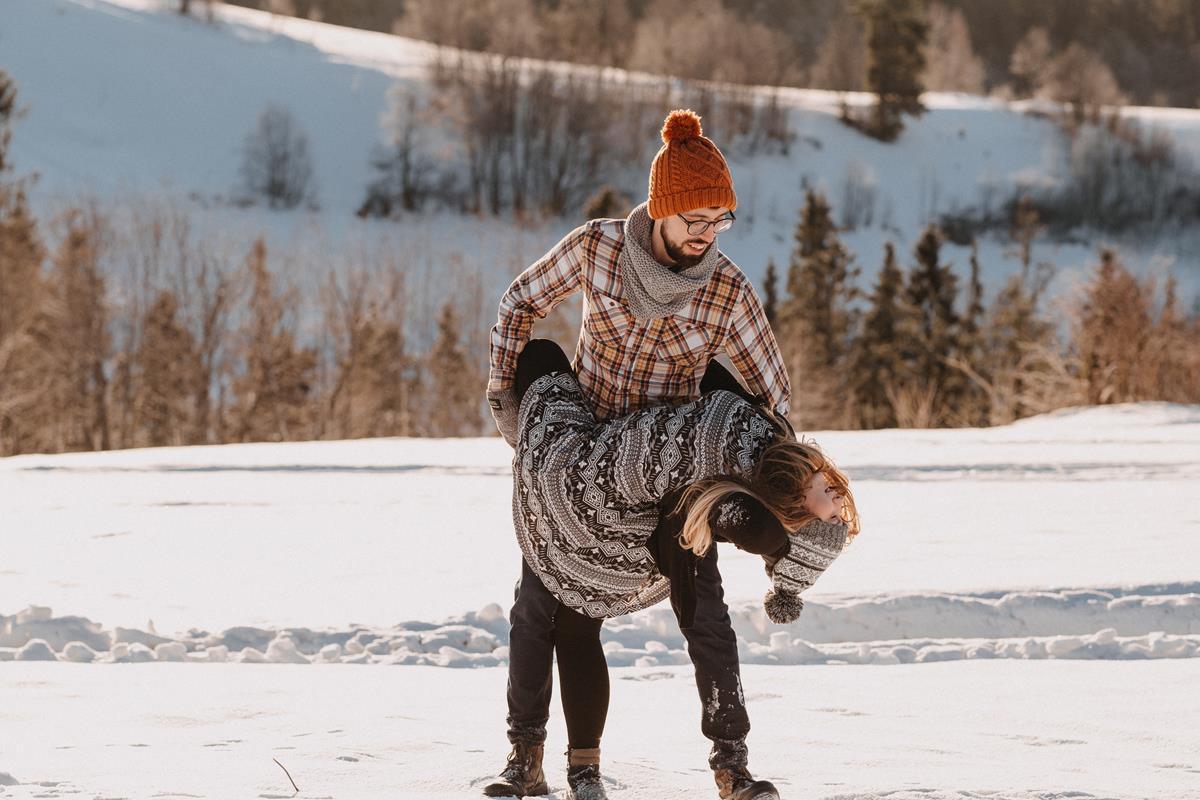 Sesja zaręczynowa w górach zimą49