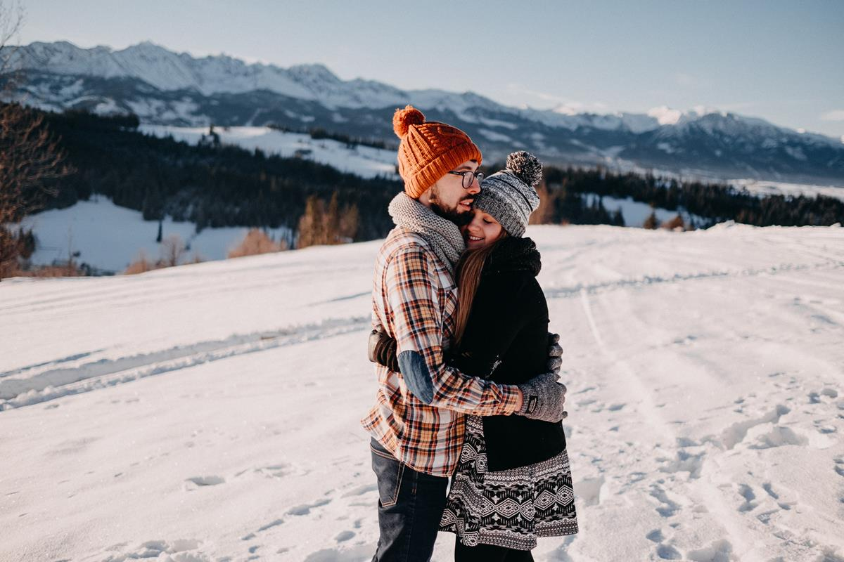 Sesja zaręczynowa w górach zimą51