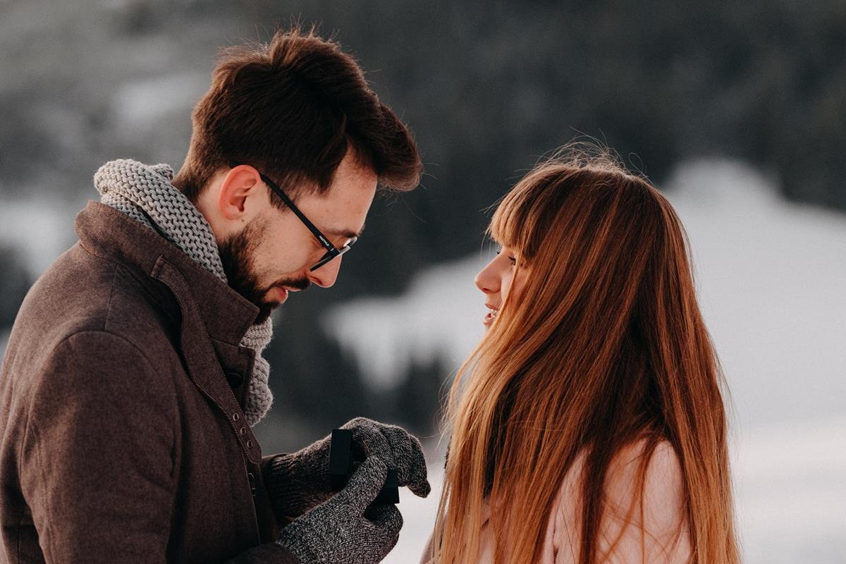Sesja zaręczynowa w górach zimą7