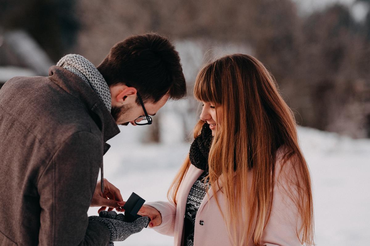 Sesja zaręczynowa w górach zimą9