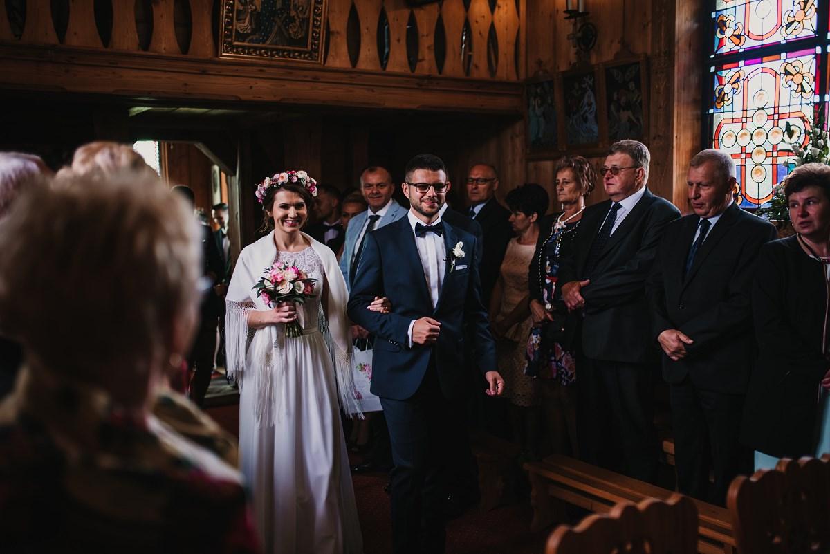 ceremonia ślubna na Płazówce
