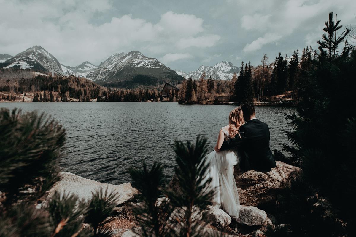 Plener szczyrbskie jezioro